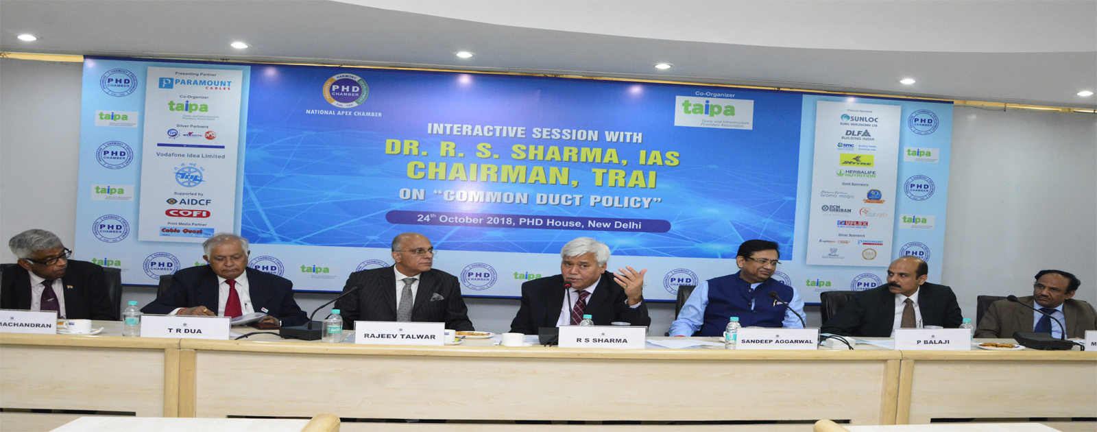 Interactive Session with Dr R S Sharma, IAS, Chairman, TRAI on Common Duct Policy