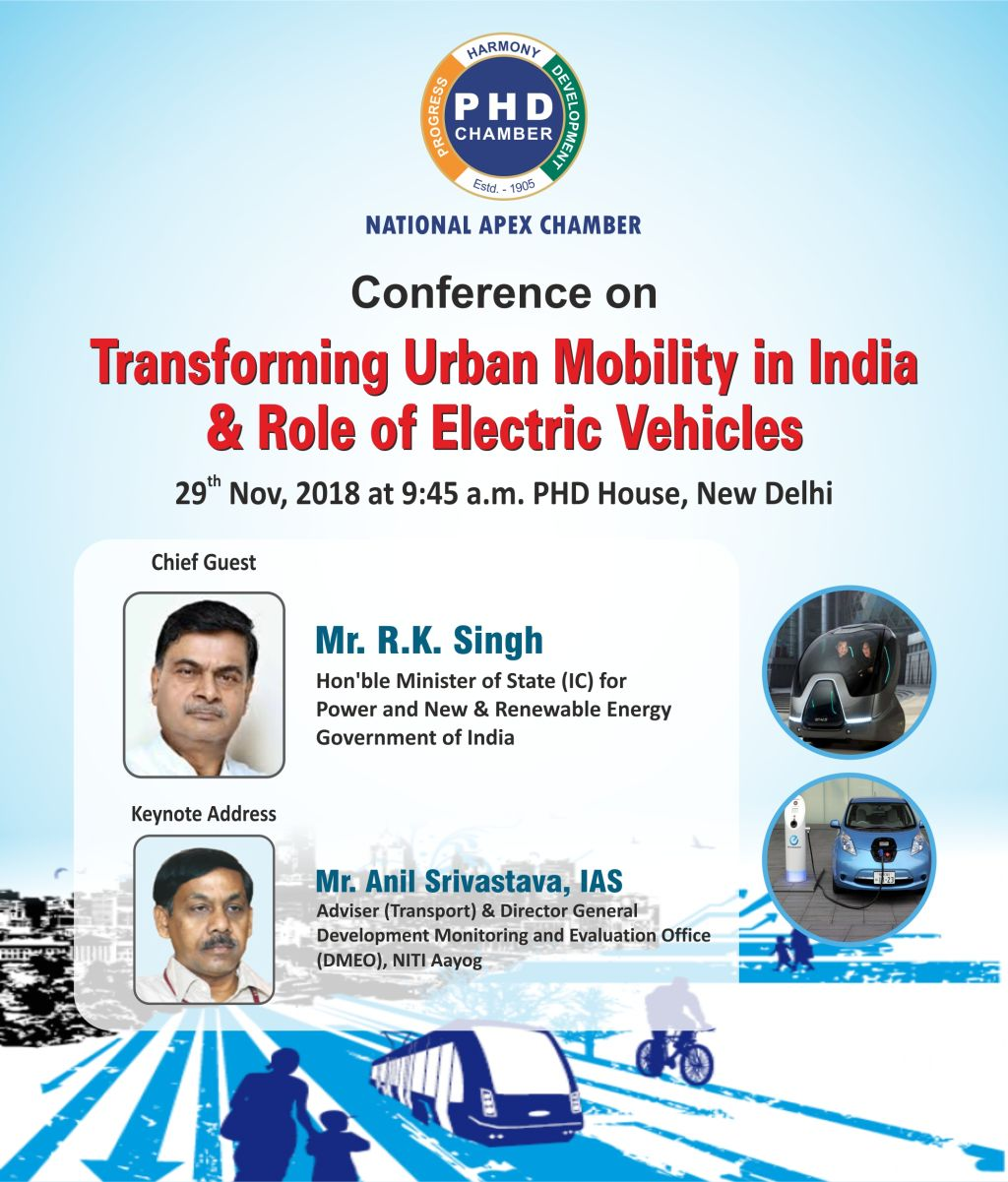 Conference on Transforming Urban Mobility in India & Role of Electric Vehicles