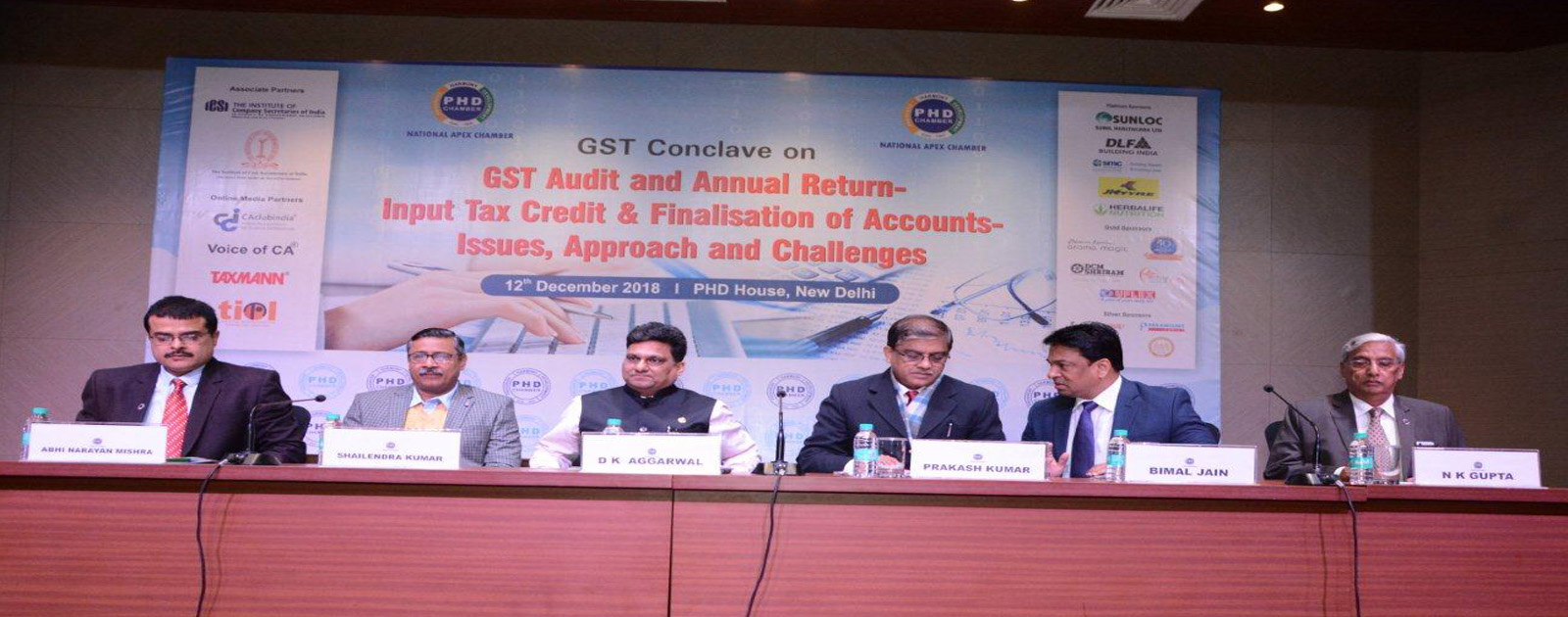 "GST Conclave on ""GST Audit and Annual Return – Input Tax Credit & Finalisation of Accounts –  Issues, Approach and Challenges"""