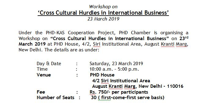 Workshop on Cross Cultural Hurdles in International Business