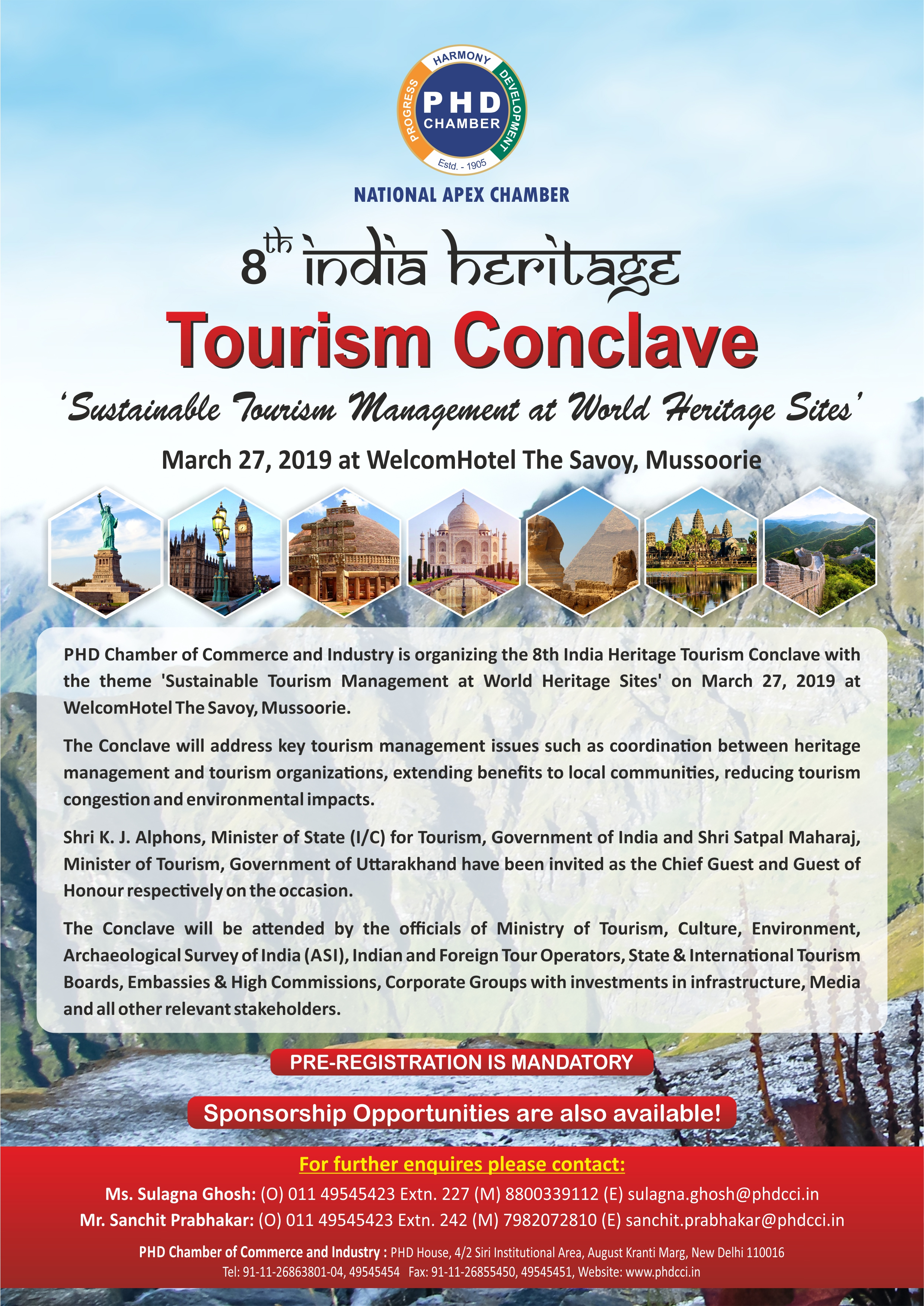 8TH INDIA HERITAGE TOURISM CONCLAVE – Sustainable Tourism Management at World Heritage Sites