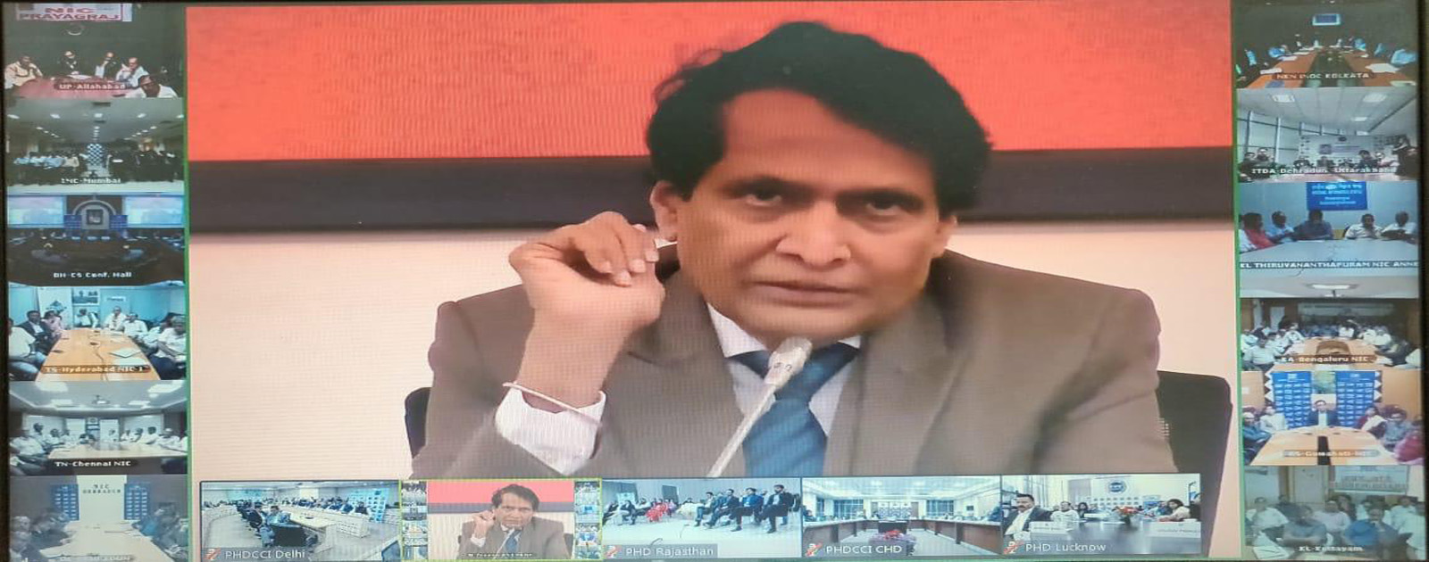 Video Conferencing with Union Minister for Commerce & Industry and Civil Aviation, Dr Suresh Prabhu