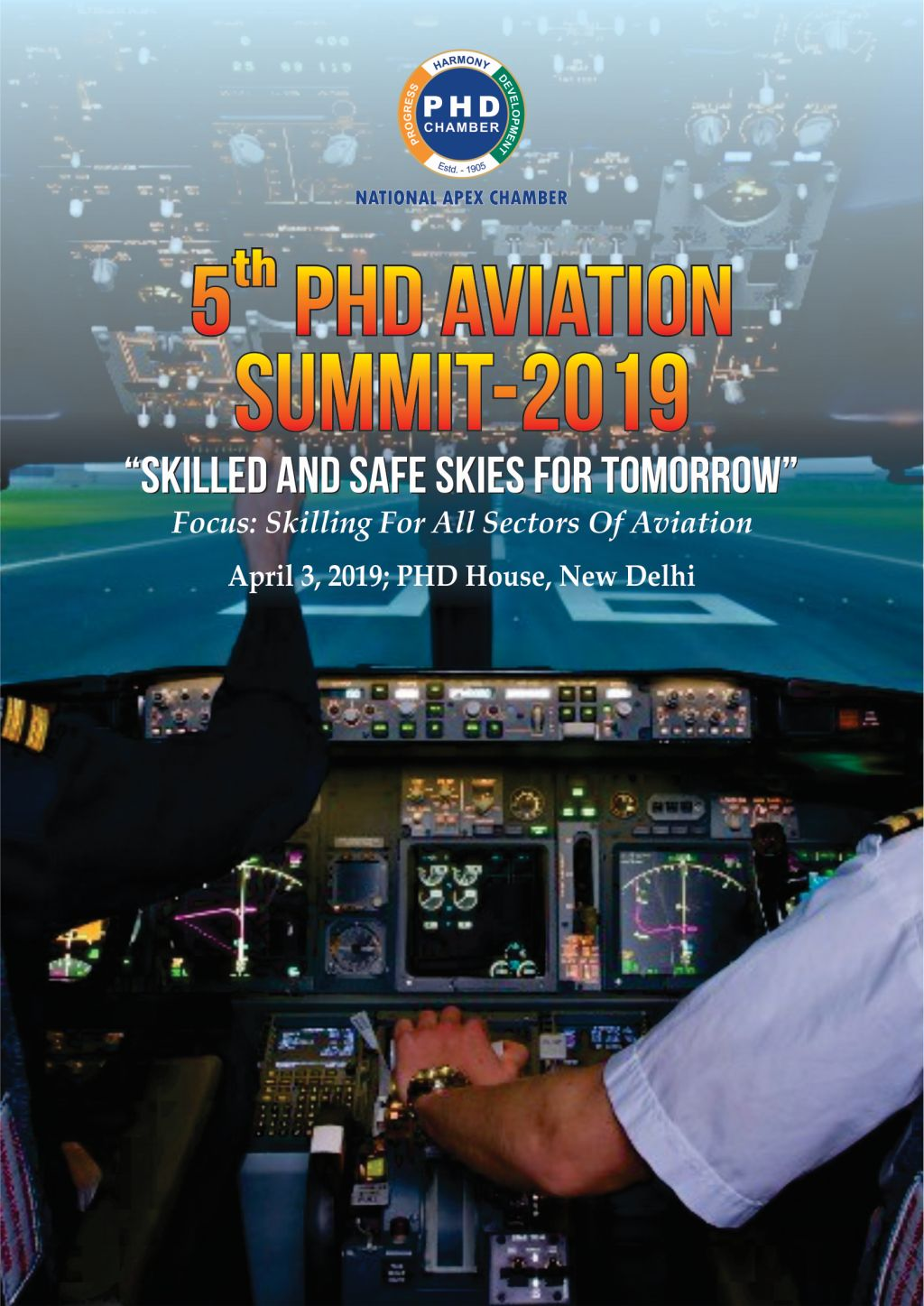 """5th PHD AVIATION SUMMIT-2019 """"SKILLED AND SAFE SKIES FOR TOMMOROW"""""""