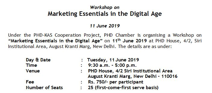 Workshop on Marketing Essentials in the Digital Age