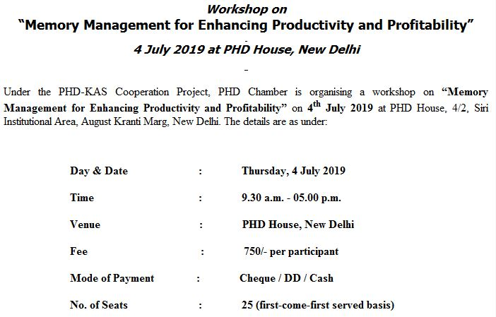 Workshop on Memory Management for Enhancing Productivity and Profitability