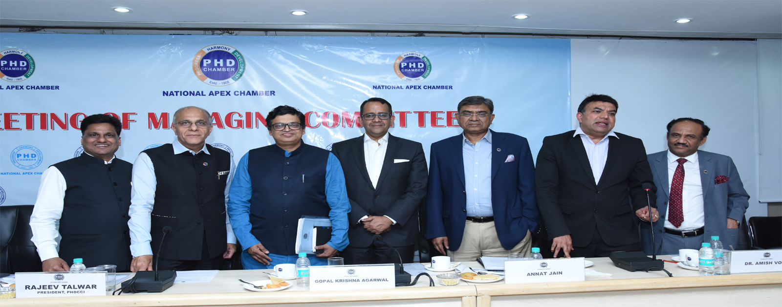 Interactive Session with Shri Gopal Krishna Agarwal, National Spokesperson of BJP (Economic Affairs); Shri Annat Jain, Managing Partner, Acropolis Capital Group and Dr. Amish Vora, Co-Founder & Director, Hope Oncology Clinic