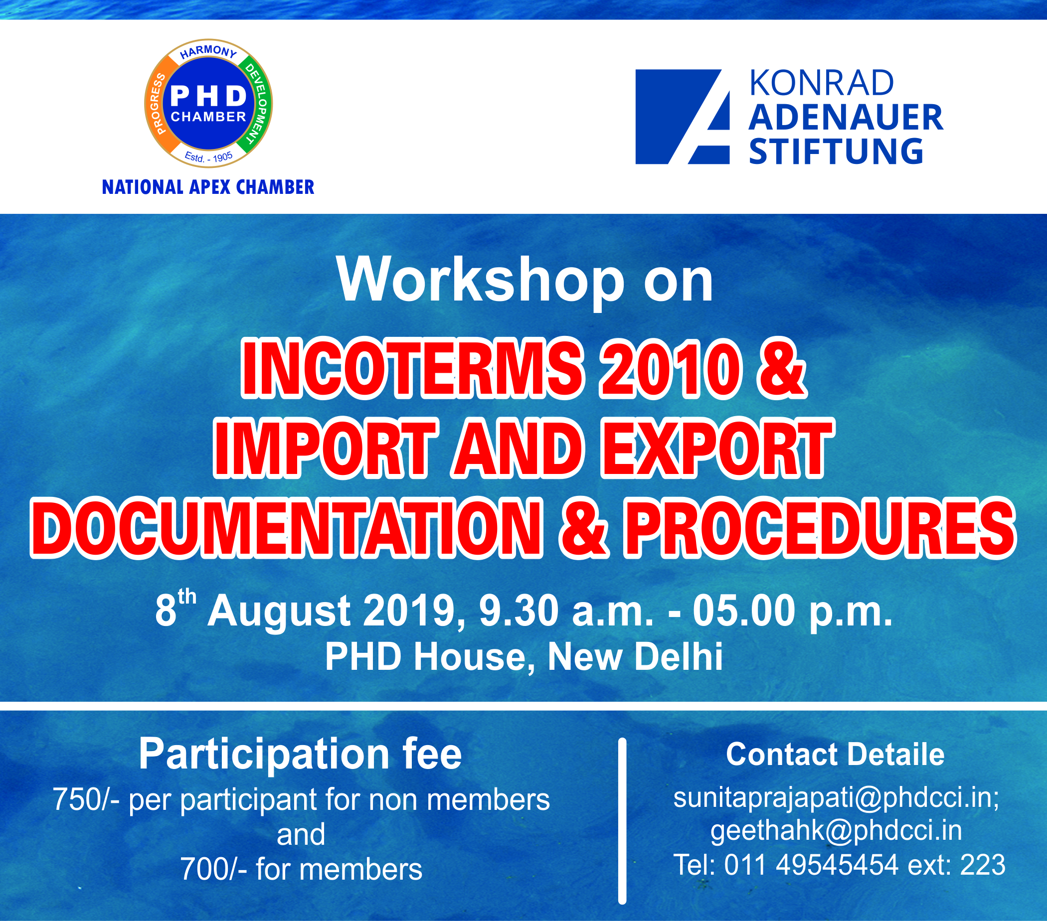 Workshop on INCOTERMS 2010 & IMPORT AND EXPORT DOCUMENTATION & PROCEDURES