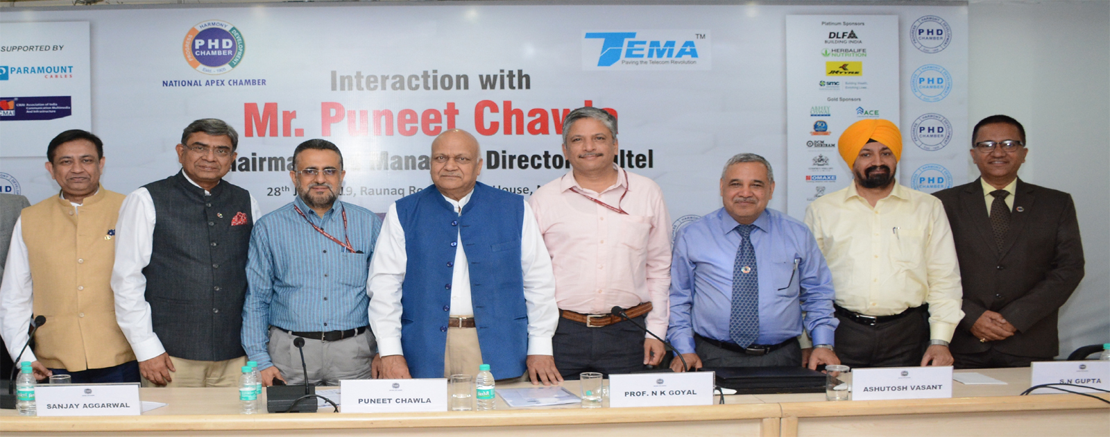 Interaction with Mr. Puneet Chawla, Chairman and Managing Director, Railtel