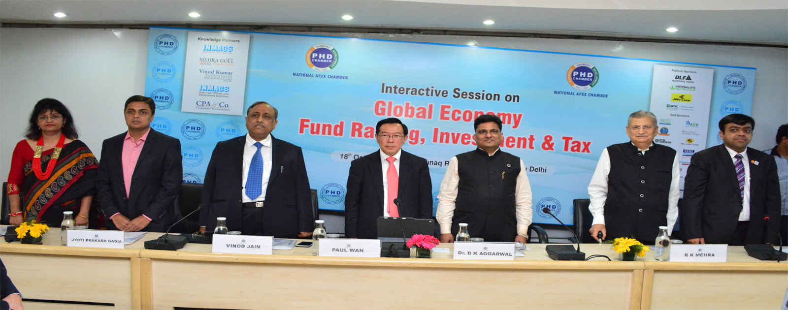 "Interactive session On ""Global Economy, Fund Raising, Investment & Tax"""