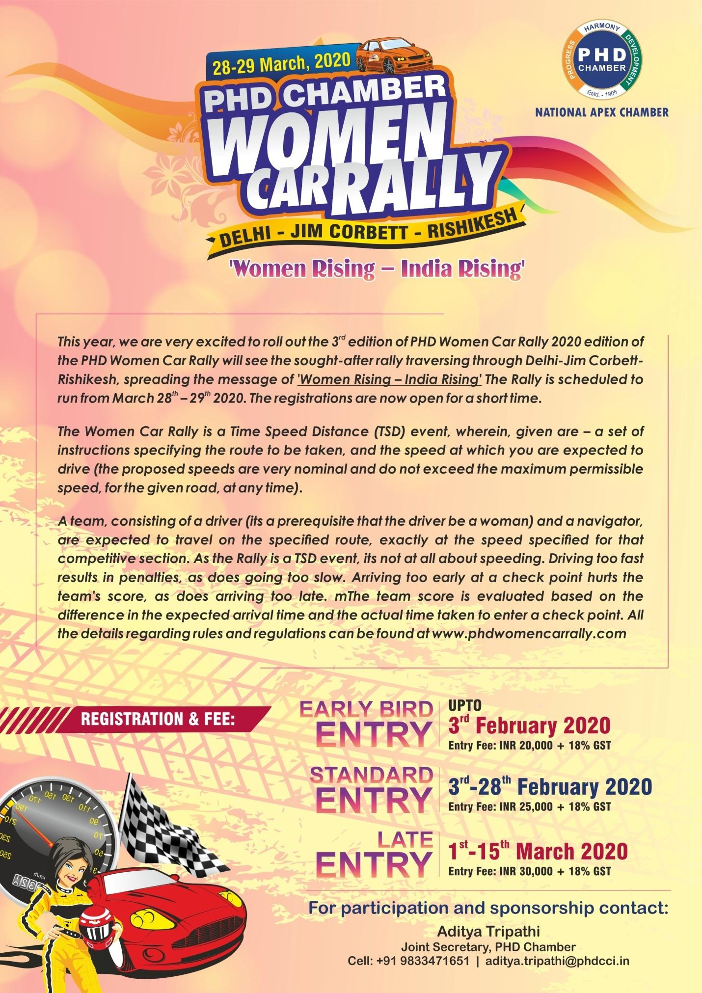 PHD Chamber Women car rally 2020