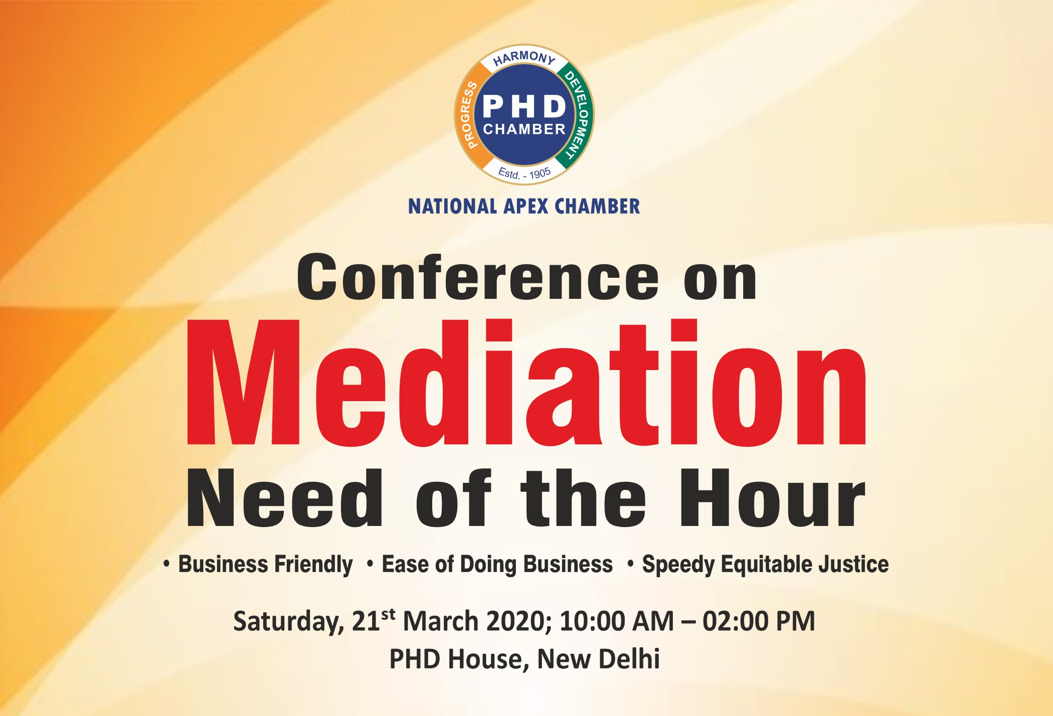 Conference on Mediation: Need of the Hour