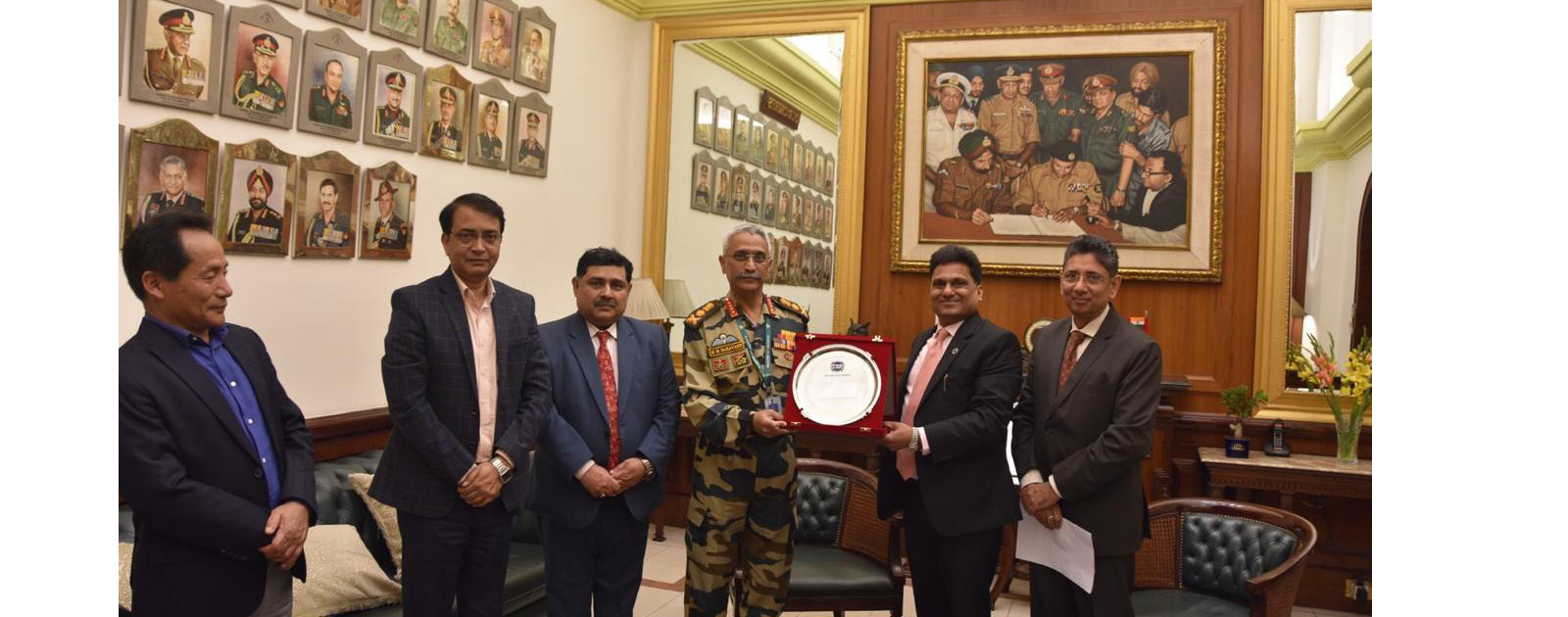 Call on Meeting with General Manoj Mukund Naravane PVSM, AVSM, SM, VSM, ADC, Chief of the Army Staff (COAS), Indian Army