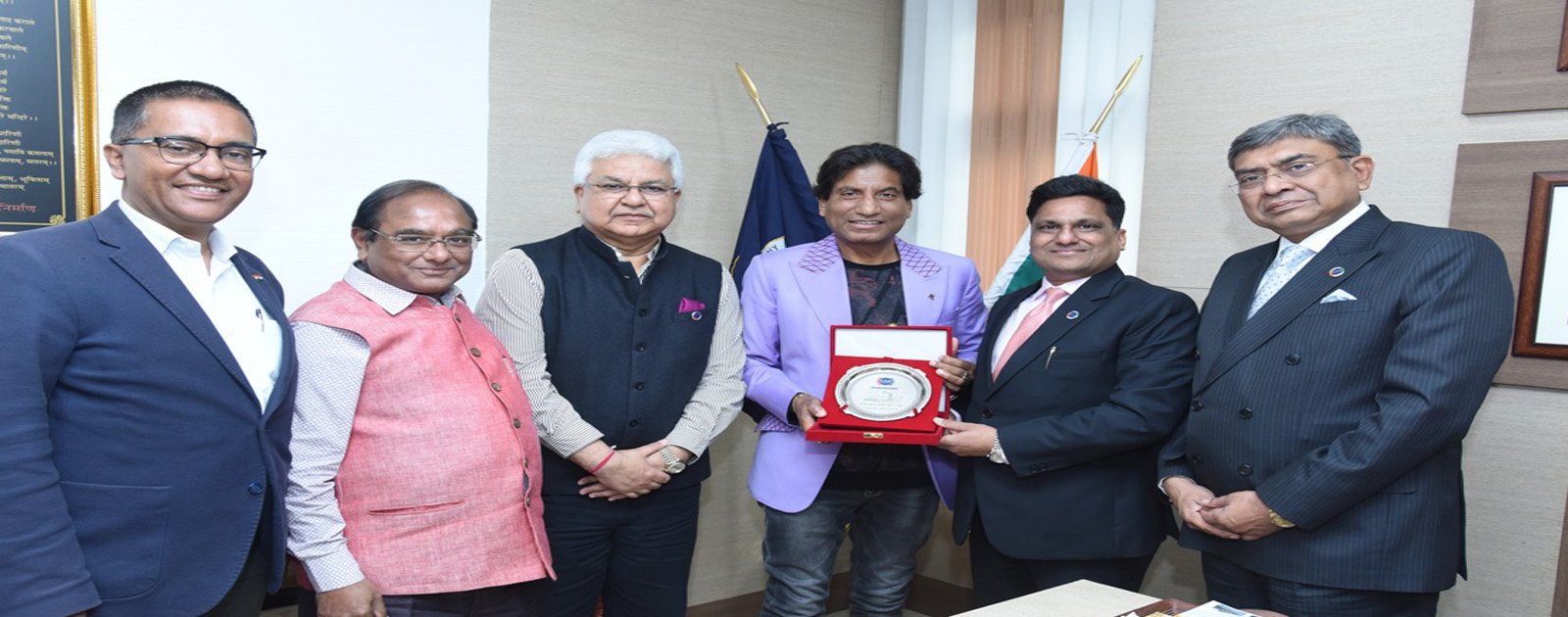 Meeting with Mr. Raju Srivastava, Renowned Stand-up Comedian & Bollywood Actor
