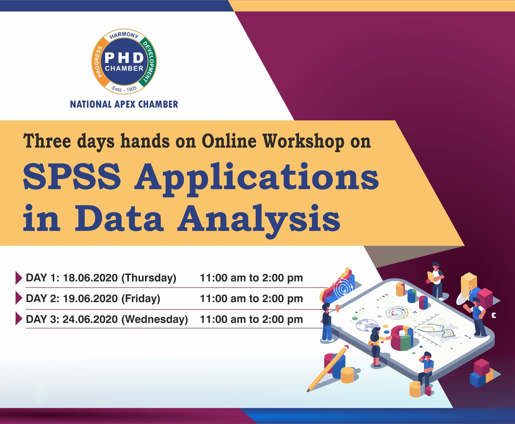 Three days hands on Online Workshop on SPSS Application in Data Analysis