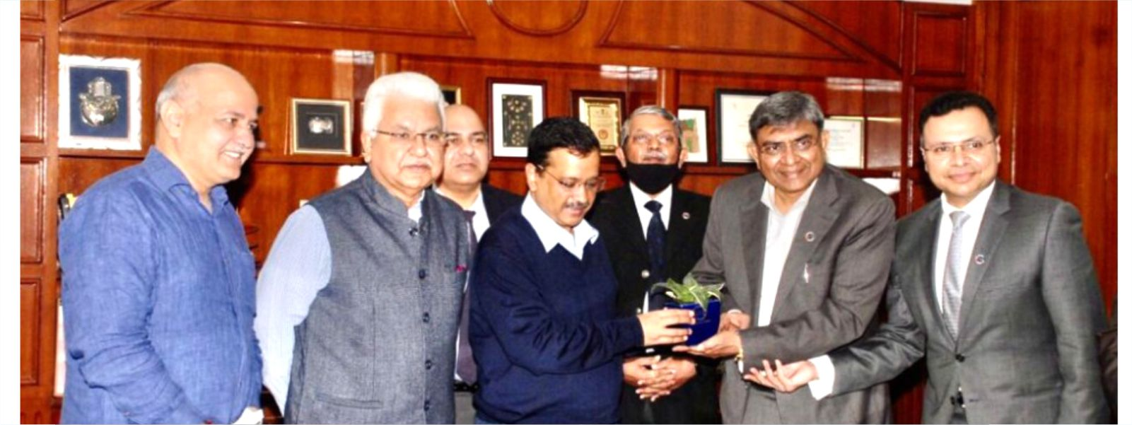 Meeting with Hon'ble Chief Minister of Delhi Shri Arvind Kejriwal and Shri Manish Sisodia, Dy. CM