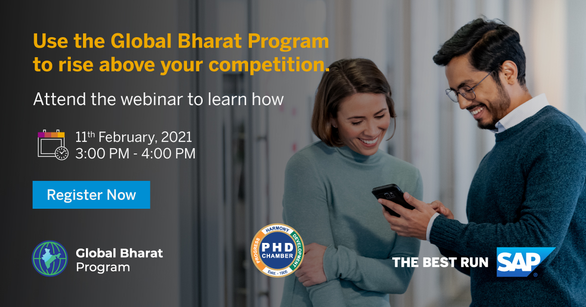 Webinar on  Global Bharat Program in association with SAP India