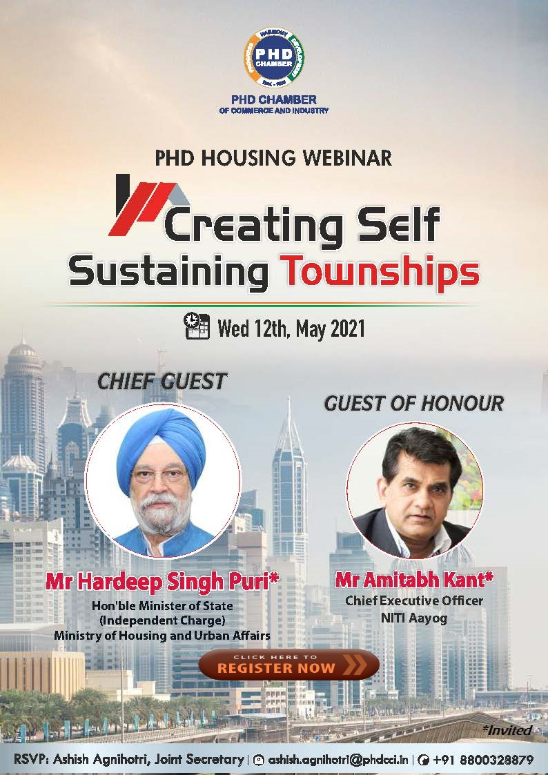 "PHDCCI Housing Webinar on ""Creating Self Sustainable Cities"""