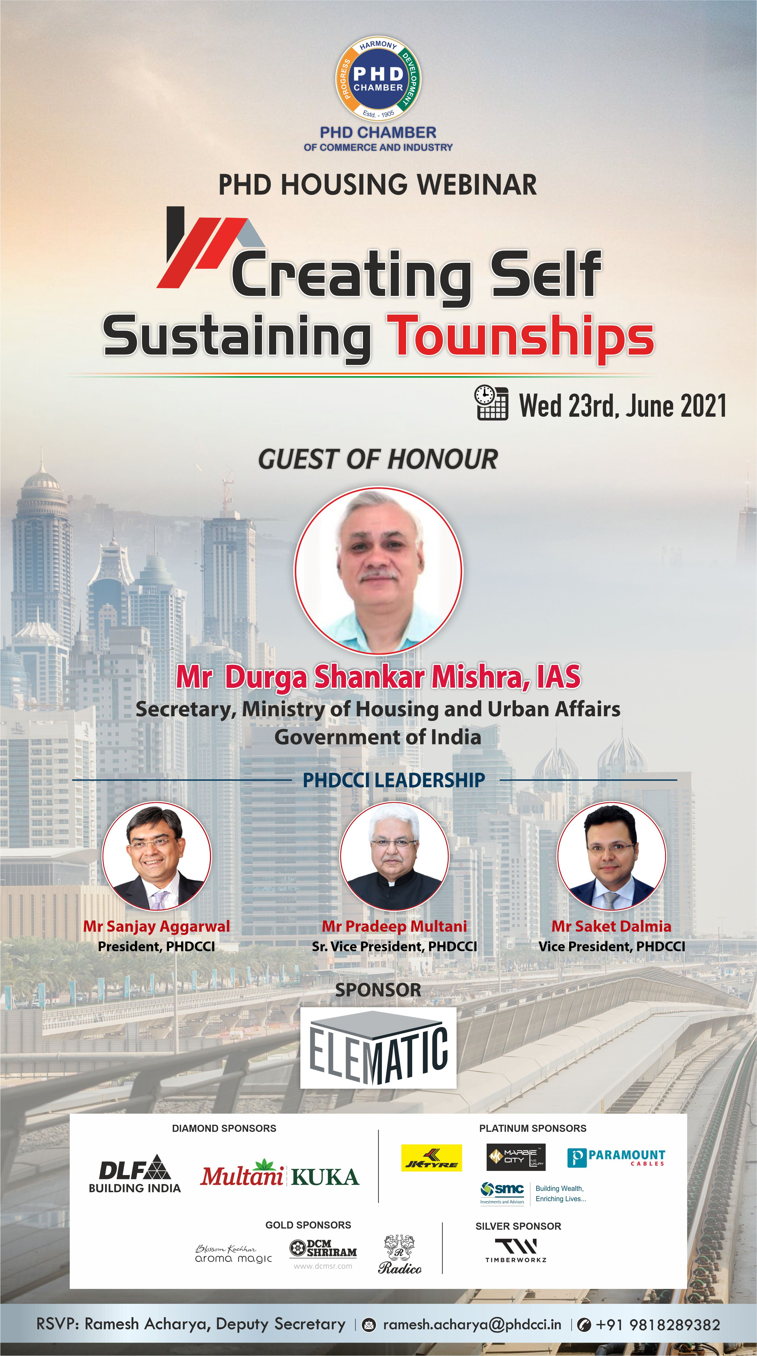 PHDCCI Housing Webinar on Creating Self-Sustainable Cities