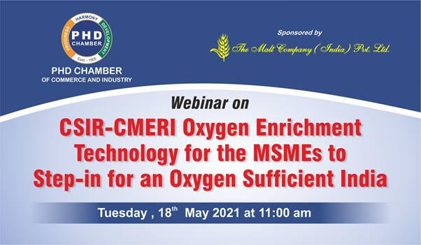 Webinar on CSIR-CMERI Oxygen Enrichment Technology for the MSMEs to step-in for an Oxygen Sufficient India