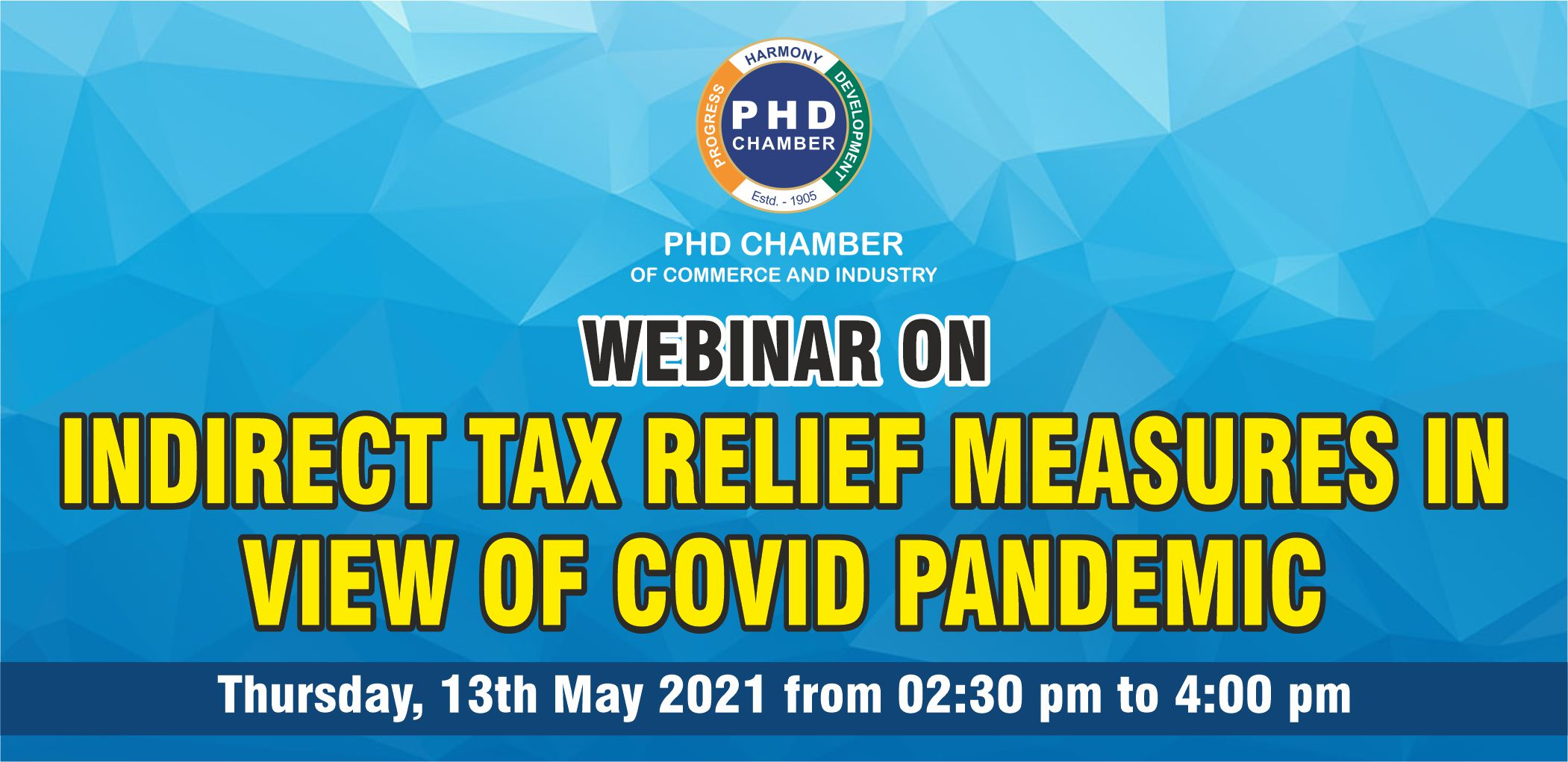 Webinar on Indirect Tax Relief Measures in view of Covid Pandemic