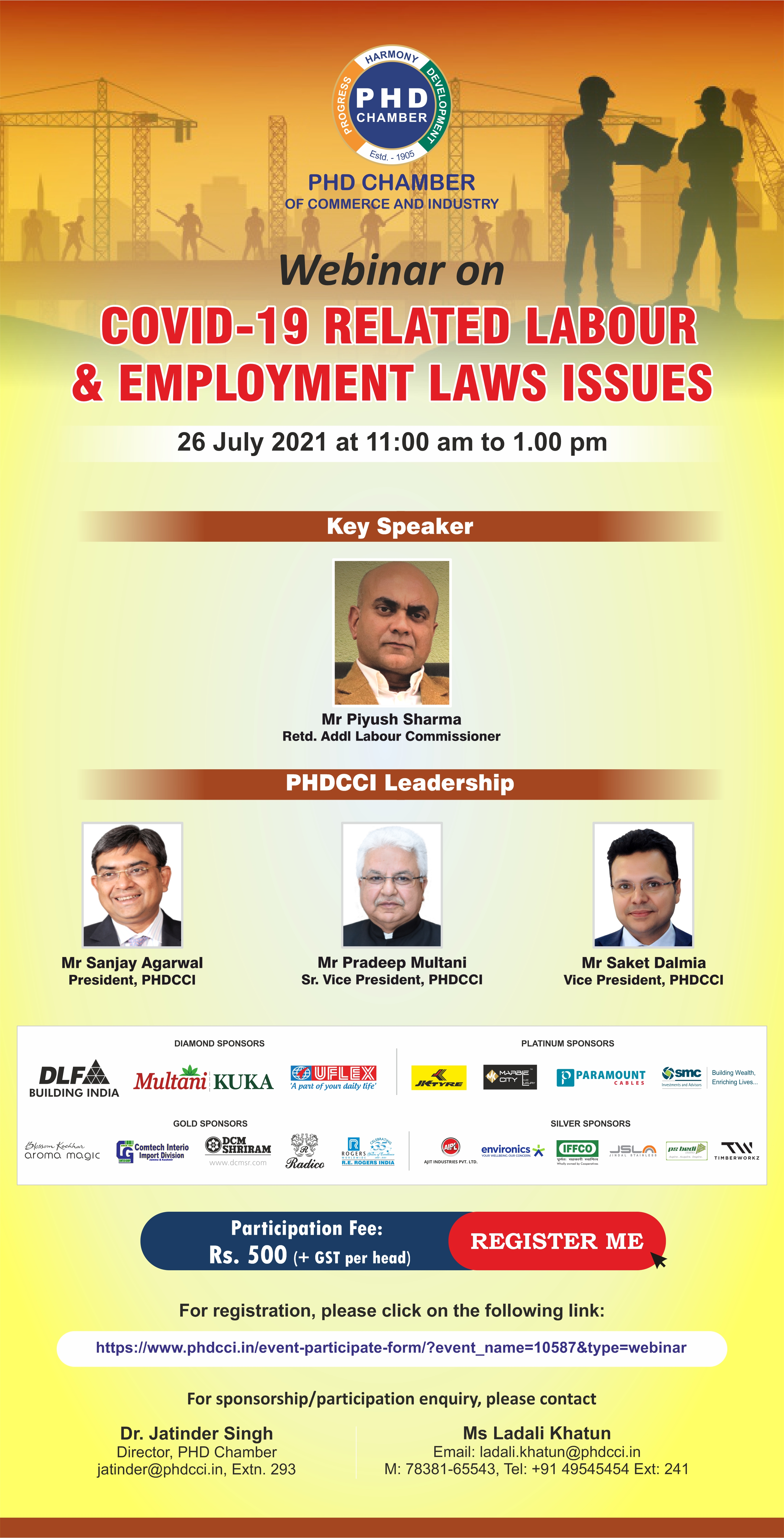 Webinar on COVID-19 related Labour & Employment Laws Issues