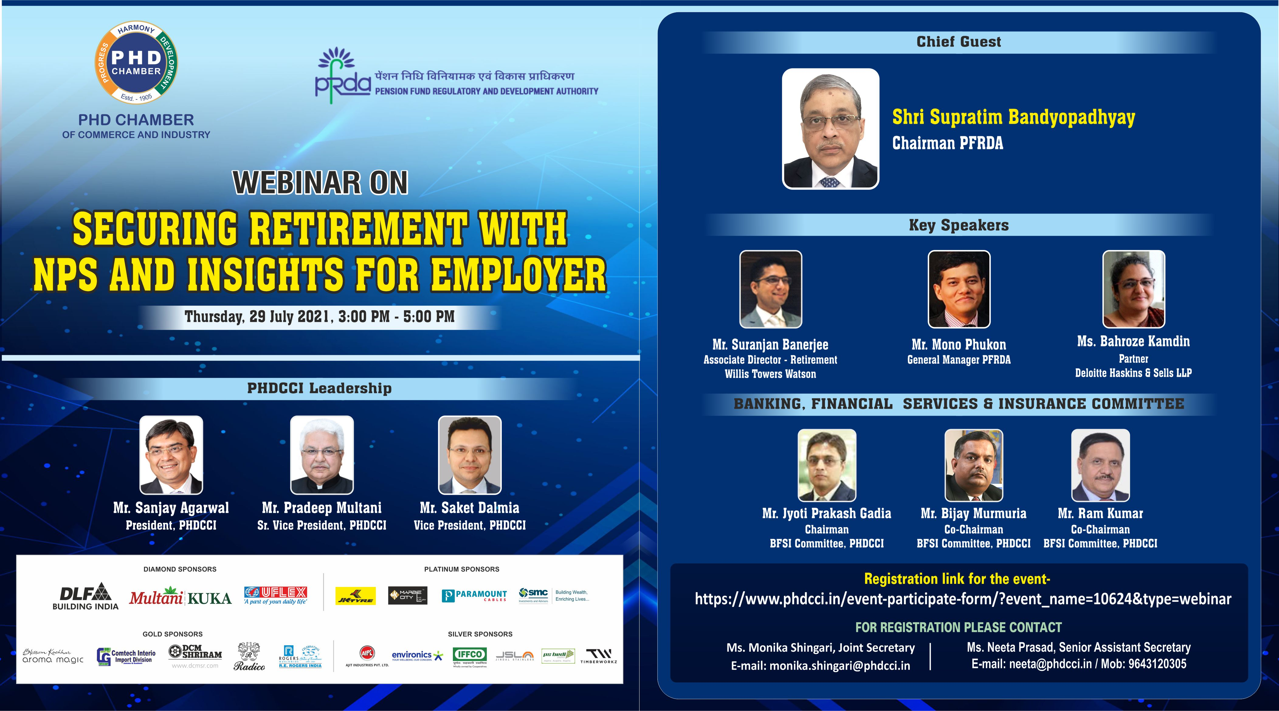 webinar on Securing Retirement with NPS and Insights for employer scheduled