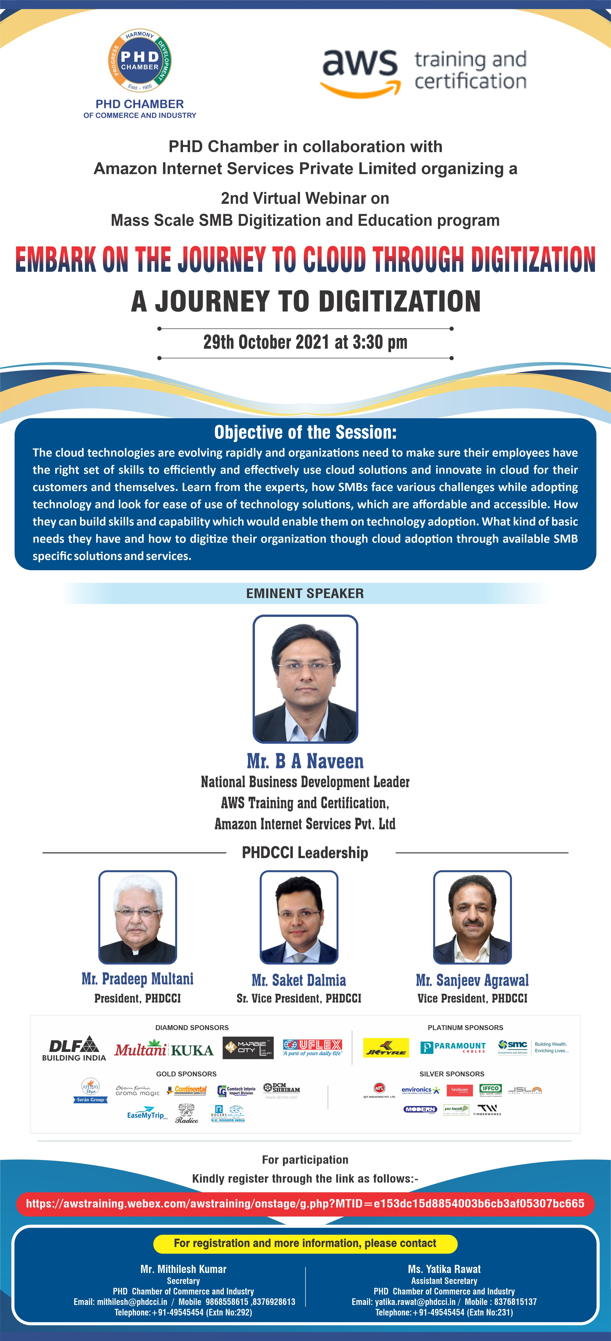 """2nd series of  Virtual Webinar on """"Embark on the journey to Cloud through Digitization"""""""